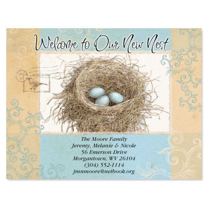 Blue Nest New Address Postcards