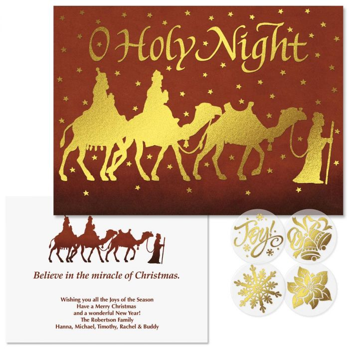 Three Kings Foil Christmas Cards | Colorful Images