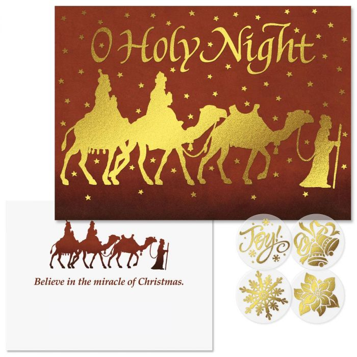 Three Kings Foil Christmas Cards -  Nonpersonalized