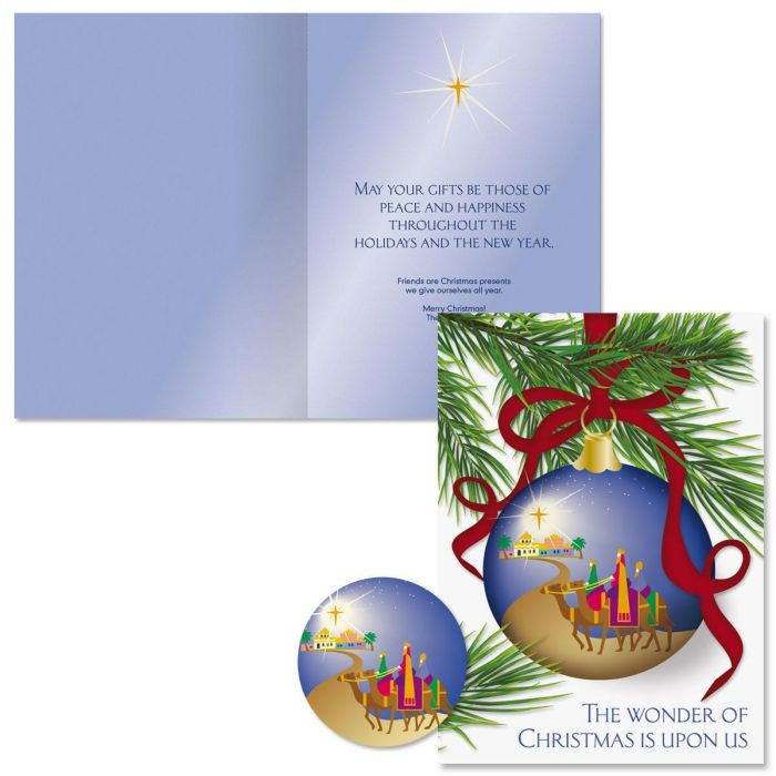 Born This Day Christmas Cards - Personalized