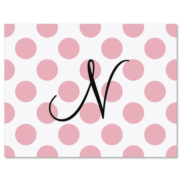 dots initial custom note cards dots initial custom note cards - Initial Note Cards