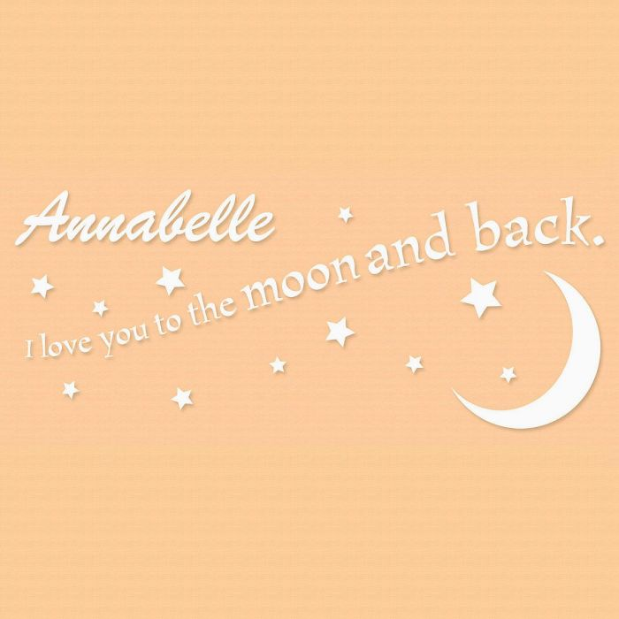 Love You to the Moon and Back  Personalized  Vinyl Wall Art