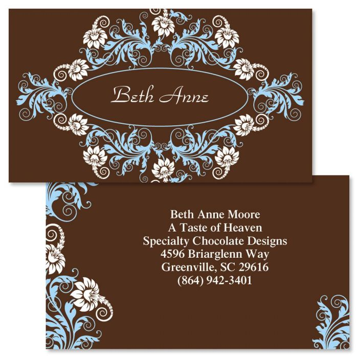 Chocolate Whimsy  Double-Sided  Business Cards