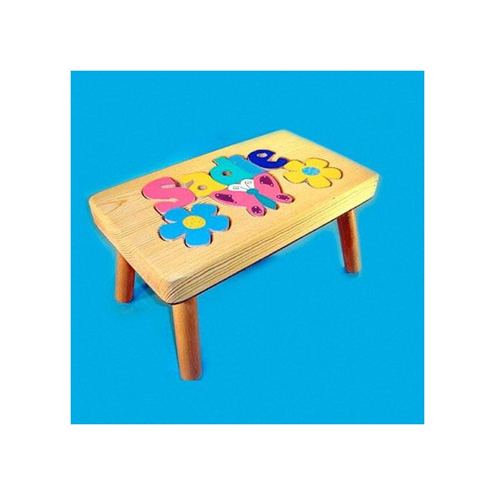 Flowers Personalized Puzzle Footstool