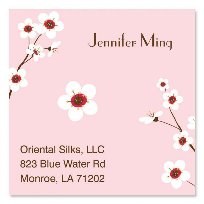 Cherry blossom square business cards colorful images cherry blossom square business cards colourmoves