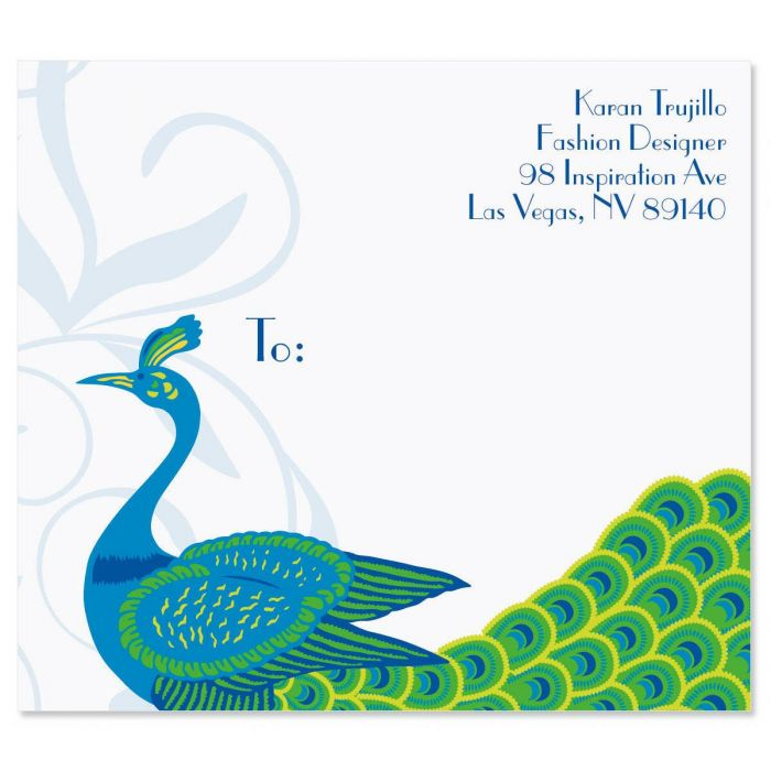 Peacock Luxe Package Labels