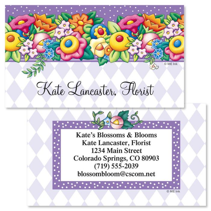Blossom by mary engelbreit double sided business cards colorful images blossom by mary engelbreit double sided business cards colourmoves