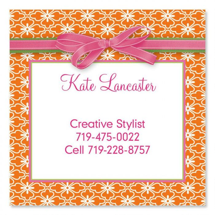 Delicious Square Business Cards
