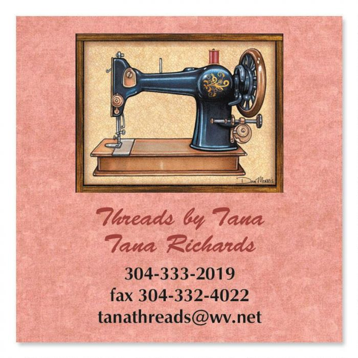 Love of Sewing Square Business Cards