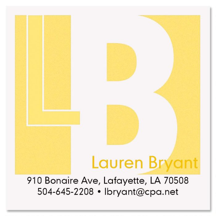 metro square business cards colorful images