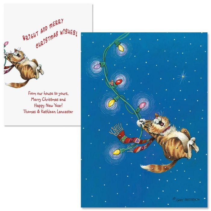 Swinging Christmas  Note Card Size   Christmas Cards