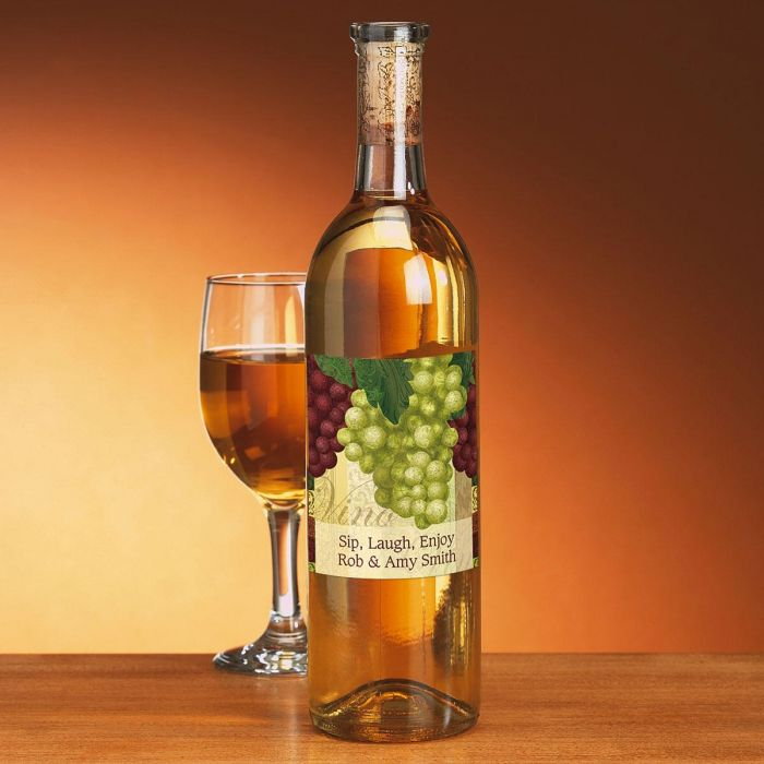 Tempting Treats Personalized Wine Labels