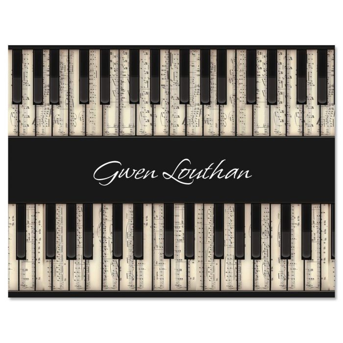 Music  Personalized  Note Cards