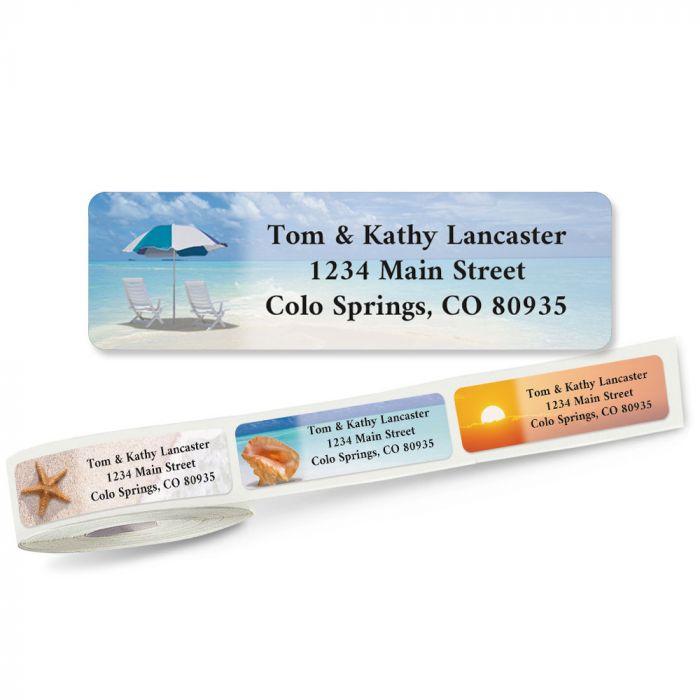 Calm Seas Rolled Return Address Labels  (5 Designs)