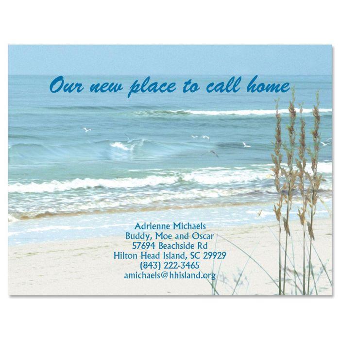 Seashore New Address Postcards
