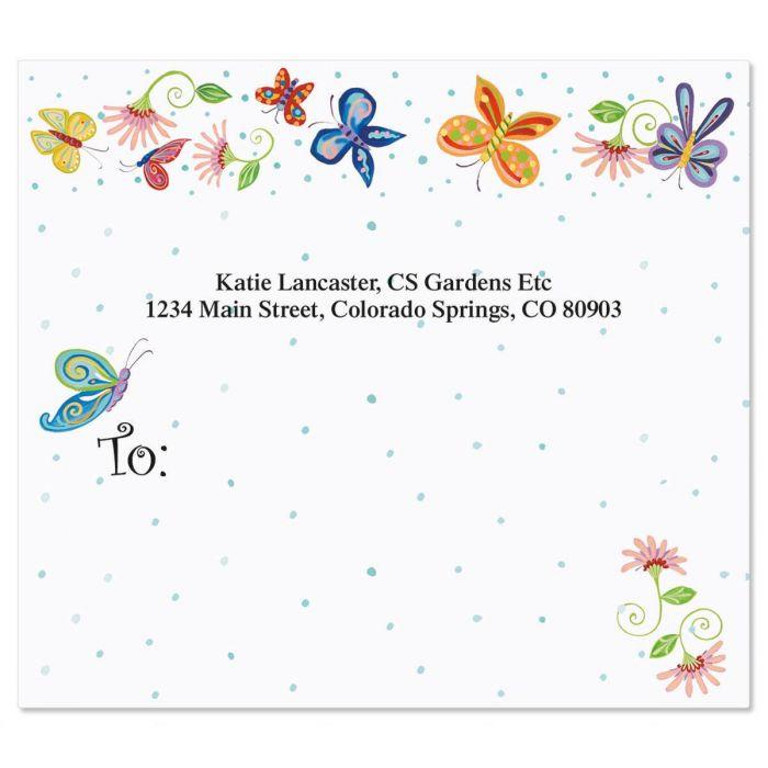 Floral Butterflies Package Labels