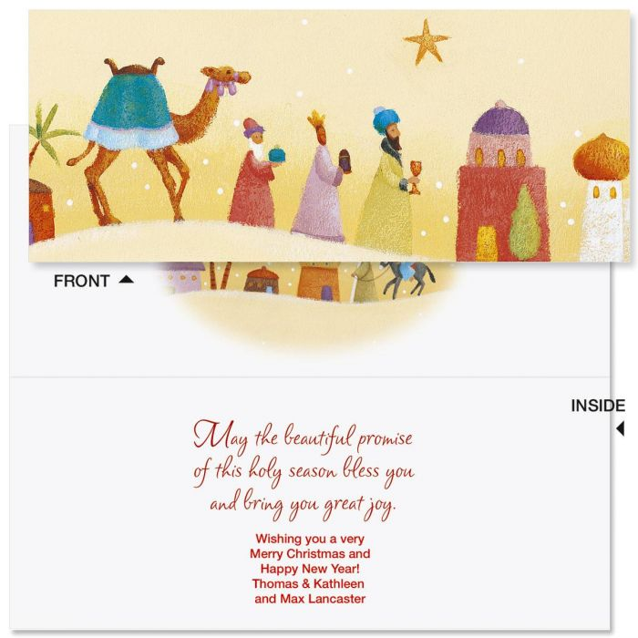 peace on earth slimline holiday cards colorful images