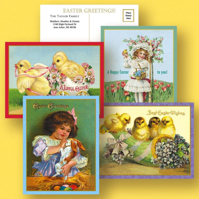 Victorian Personalized Easter Postcards