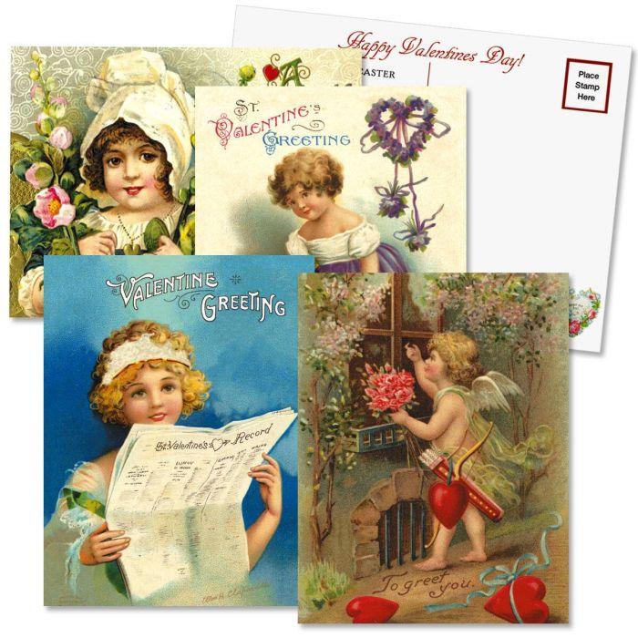 Valentine's Day Personalized  Victorian Postcard