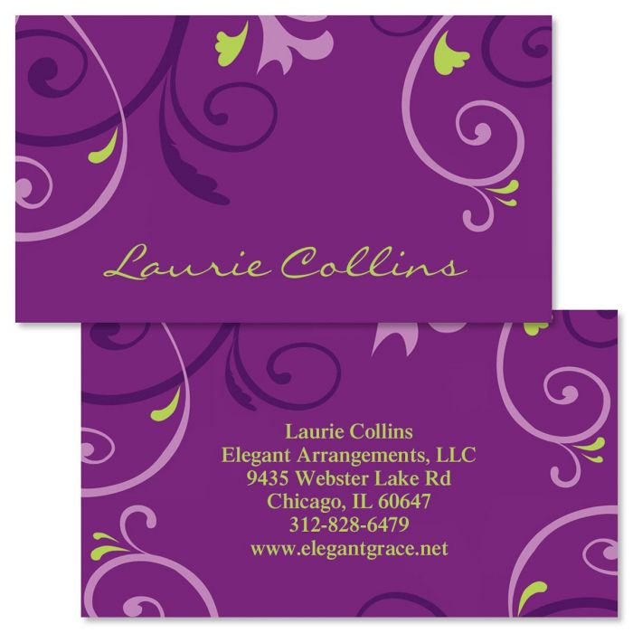 Gracious Double-Sided Business Cards