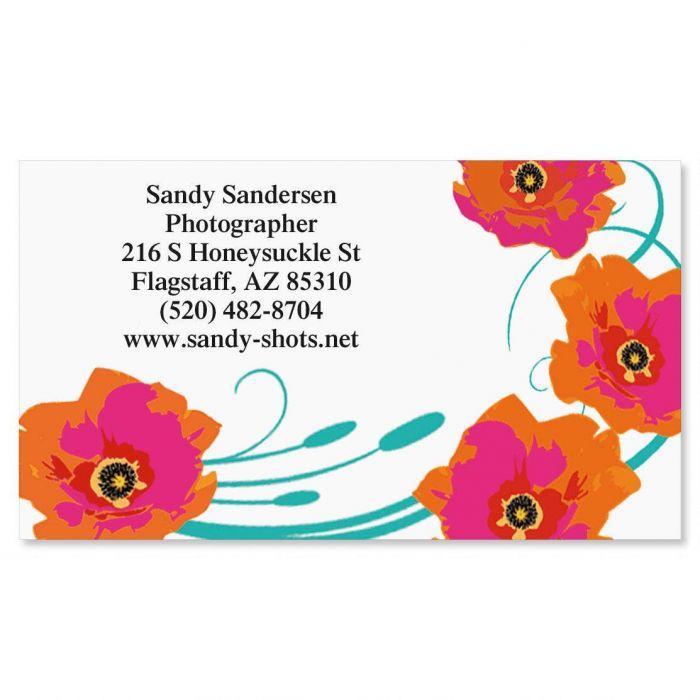 Orange Poppy Business Cards