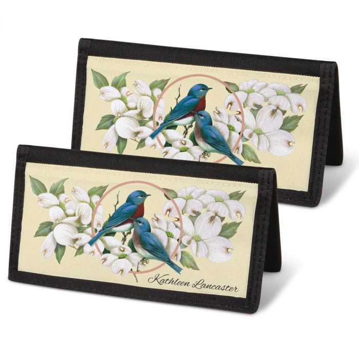 Birds & Blossoms Personal Checkbook Covers