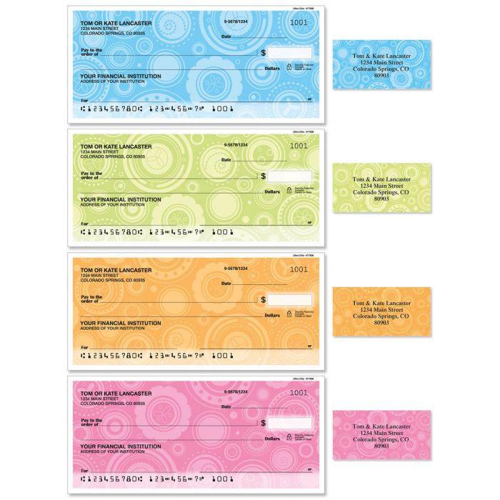 Ultra Chic Single Checks With Matching Address Labels