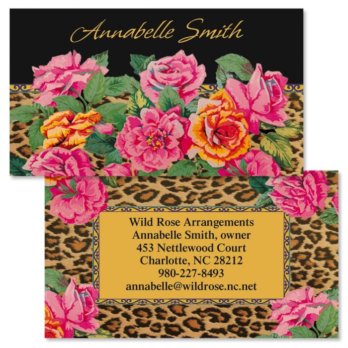 Wild & Rosie Double-Sided Business Cards