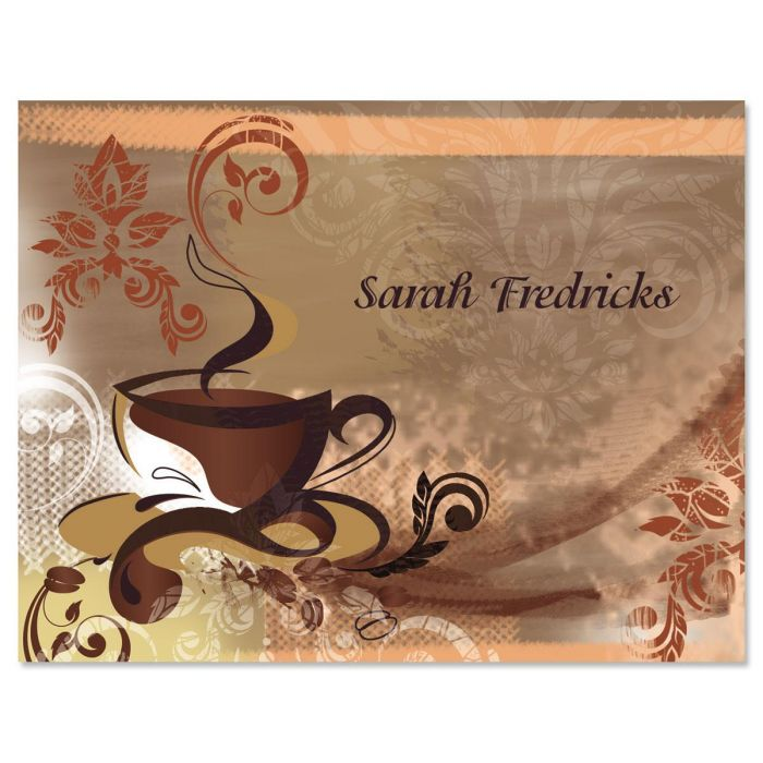 Coffee Time Custom Note Cards