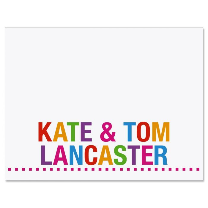 Whimsical Name Custom Note Cards