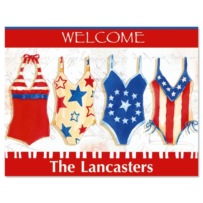 American Summer Personalized Note Cards