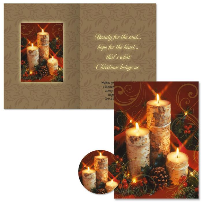 Warm Wishes Christmas Cards -  Personalized