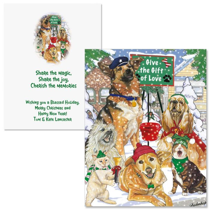 Give the Gift  Note Card Size Christmas Cards