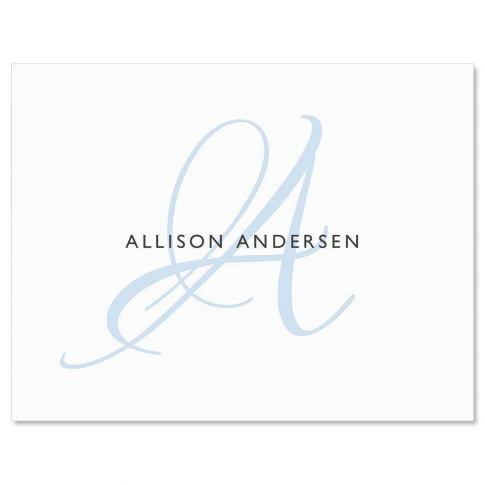 Simply Initial Custom Note Cards