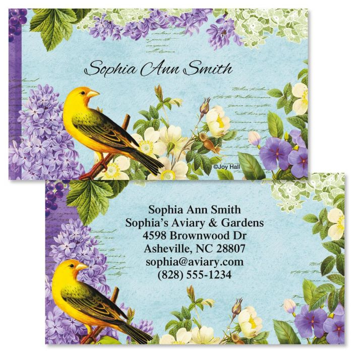 Bird Garden  Double-Sided Business Cards