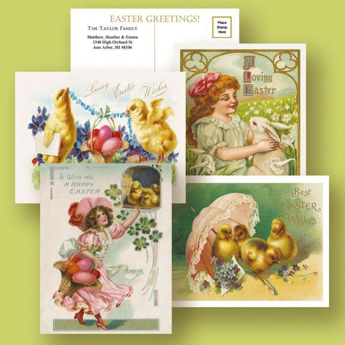 Personalized Vintage Easter Postcards