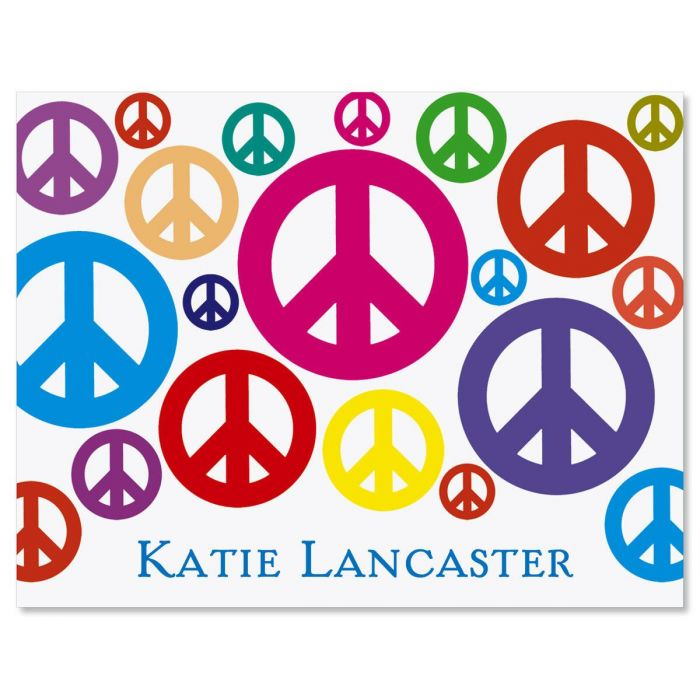 Peace Signs Custom  Note Cards
