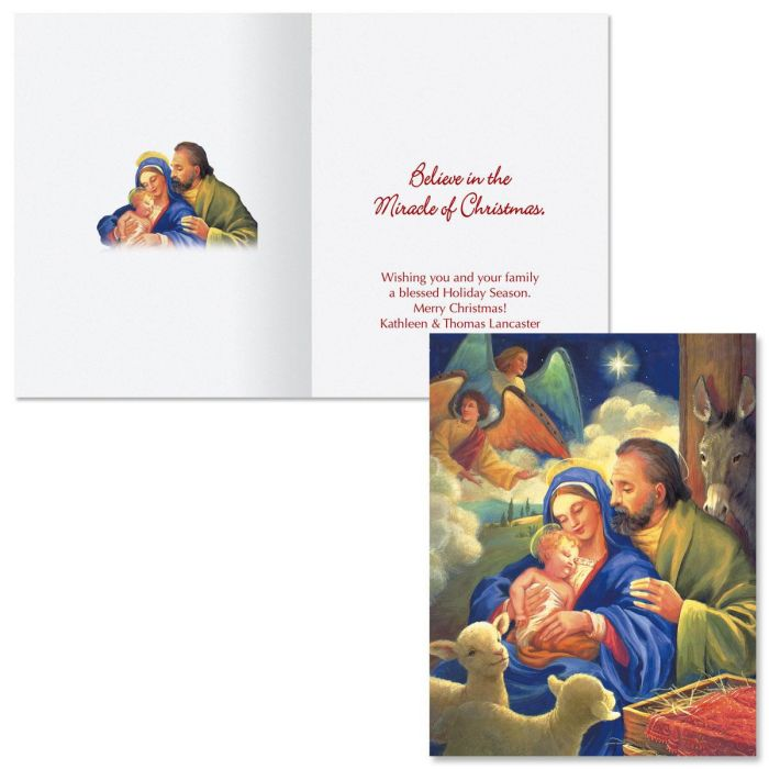glory to the newborn king note card size christmas cards