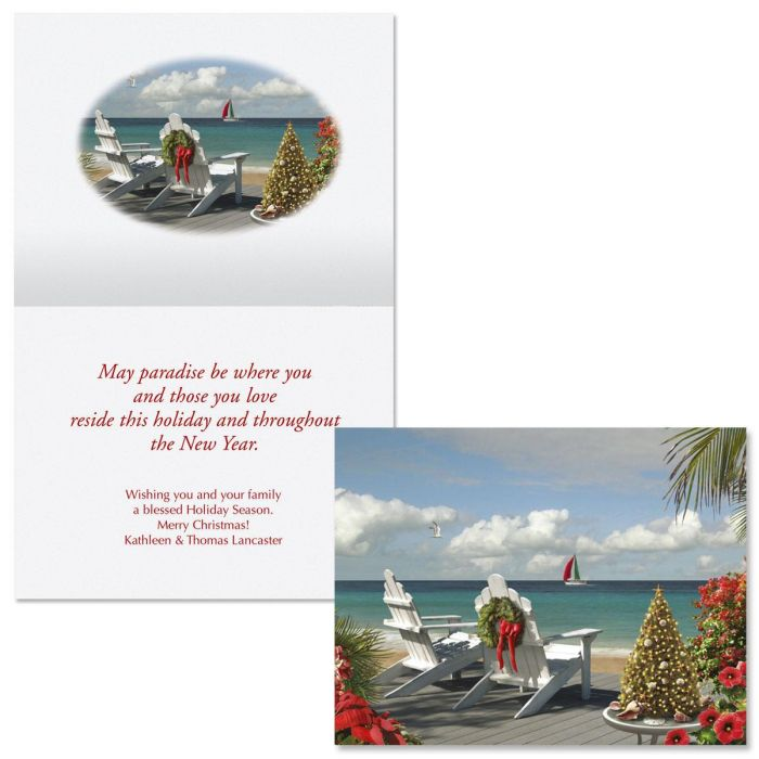 Christmas in the Sunshine Note Card Size Christmas Cards