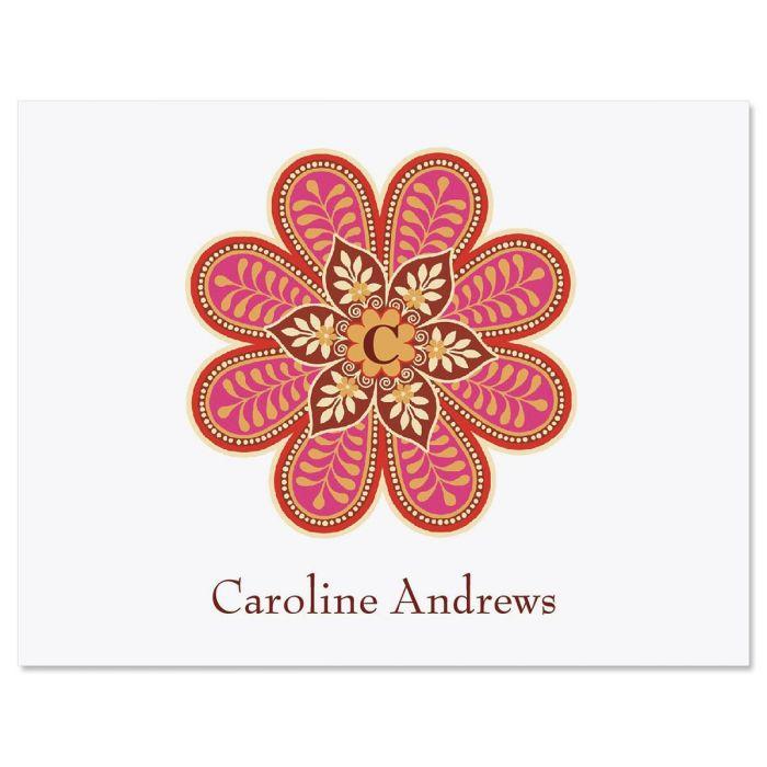 Flower Pop Custom Note Cards