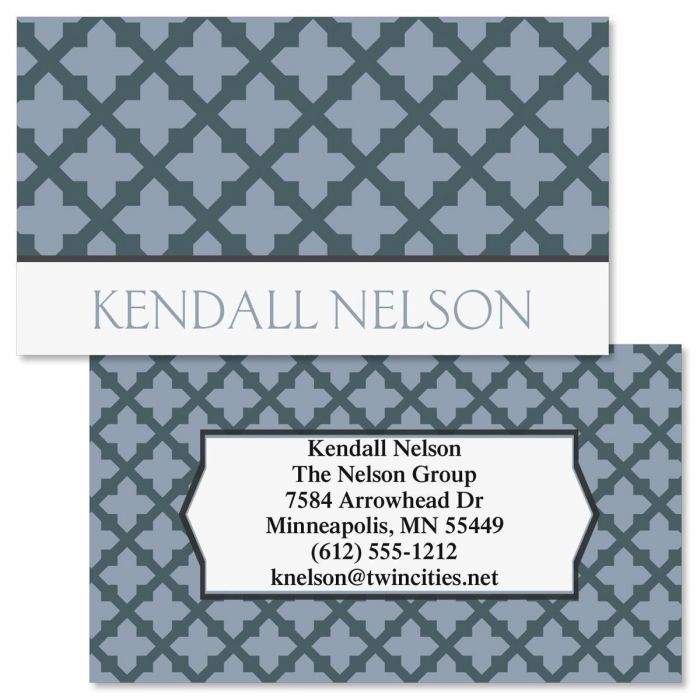 Quatrefoil double sided business cards colorful images quatrefoil double sided business cards reheart Image collections