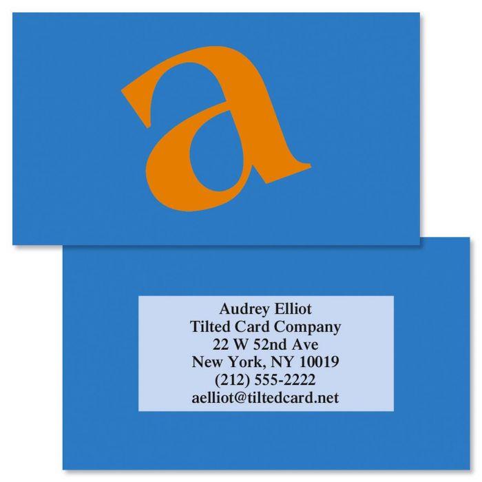 Tilt Double-Sided Business Cards