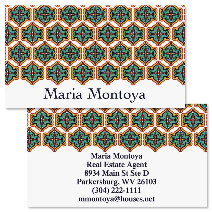 Morrocan  Double-Sided Business Cards