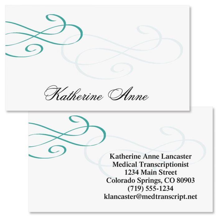 Tiffany  Double-Sided Business Cards
