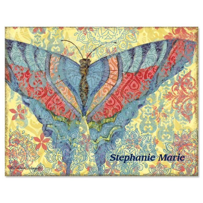 Elaborate Butterflies  Custom Note Cards