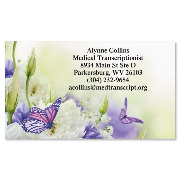 Butterfly Business Cards | Colorful Images