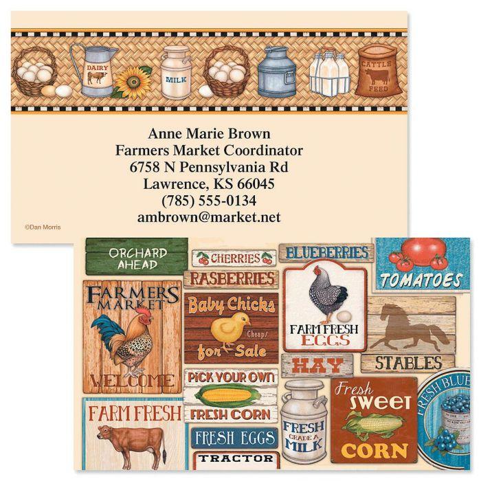 Farm Fresh Double-Sided Business Cards