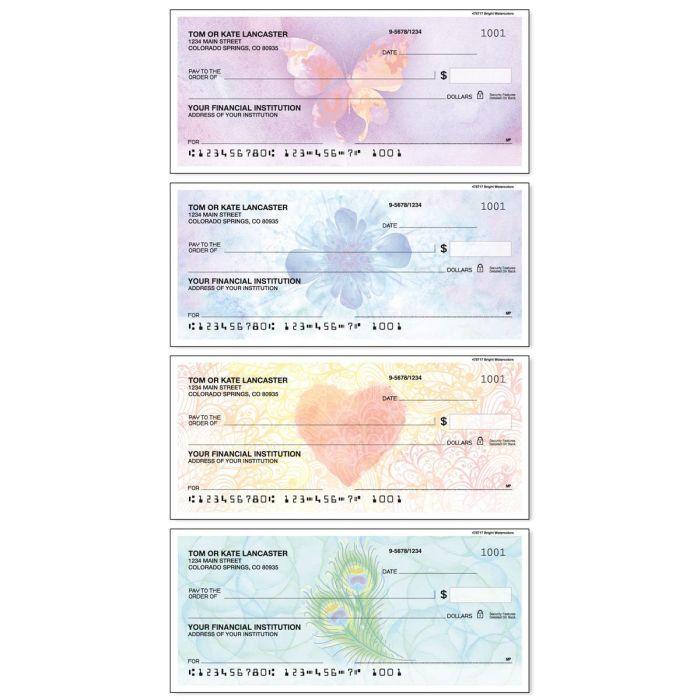 Bright Watercolors Duplicate Checks
