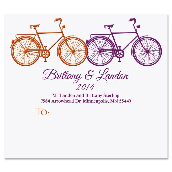 Just Married Package Labels