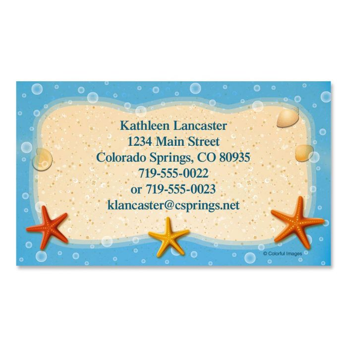 Starfish Trio Business Cards
